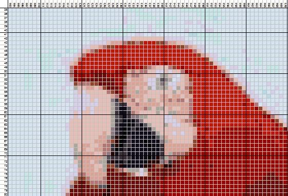 схема для вышивки из фото