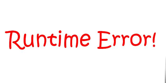 Как справиться с ошибкой runtime error