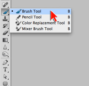 Опция Brush Tool