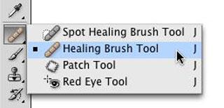 Функция Healing Brush Tool