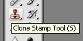 "Опция ""Clone Stamp"""