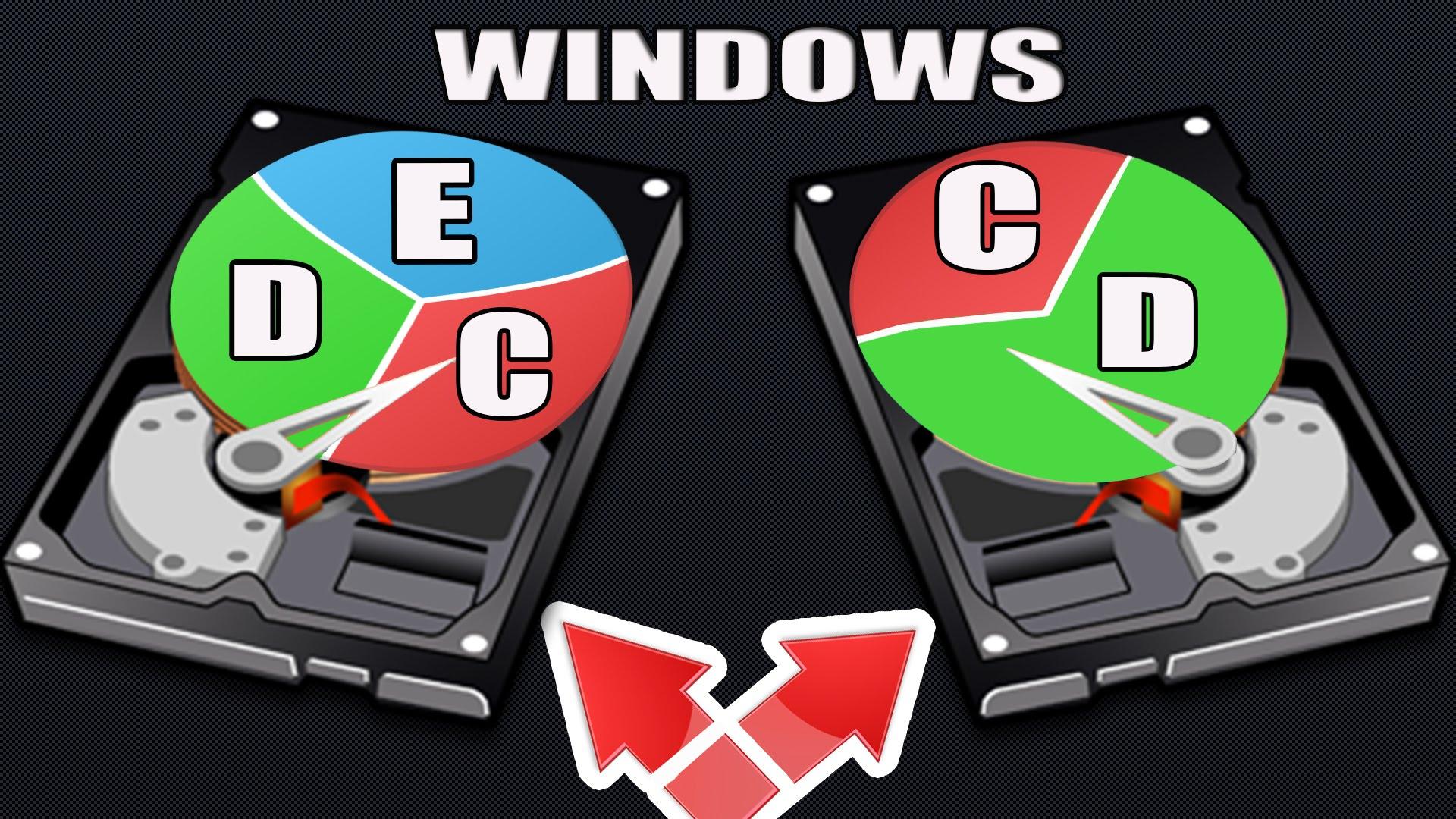Как соединить два логических диска