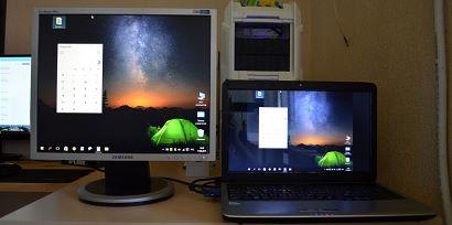 Как использовать экран ноутбука как монитор