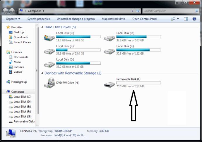 USB-накопитель в проводнике