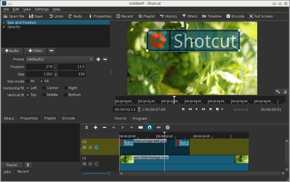 Бесплатный редактор видео Shotcut