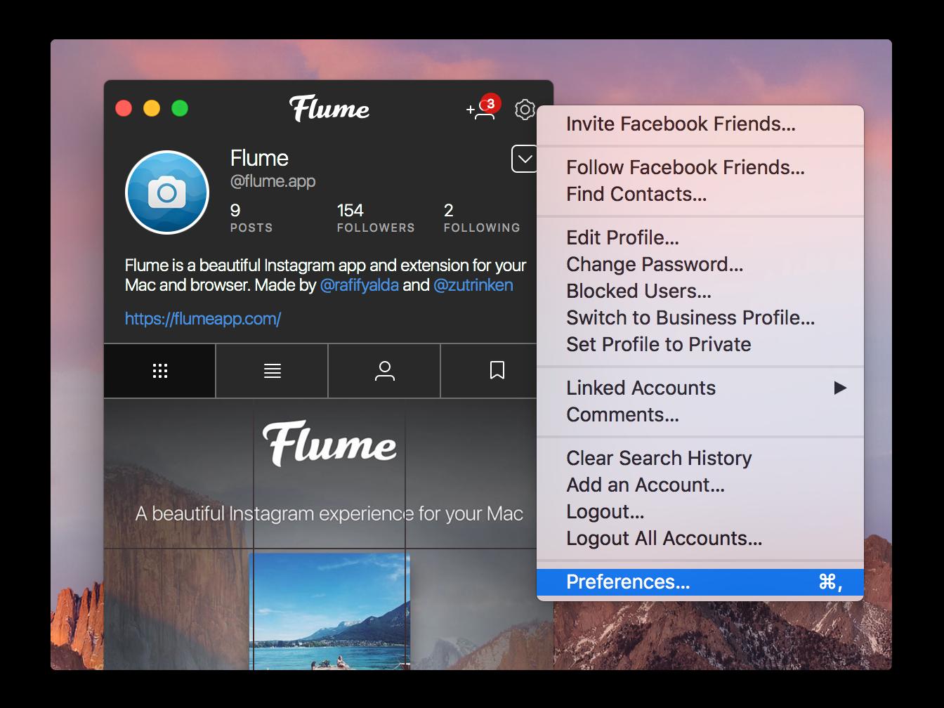 Скриншот Flume