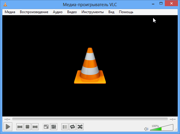 Интерфейс VLC Player