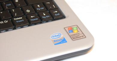 Ноутбуки на процессорах Intel Atom