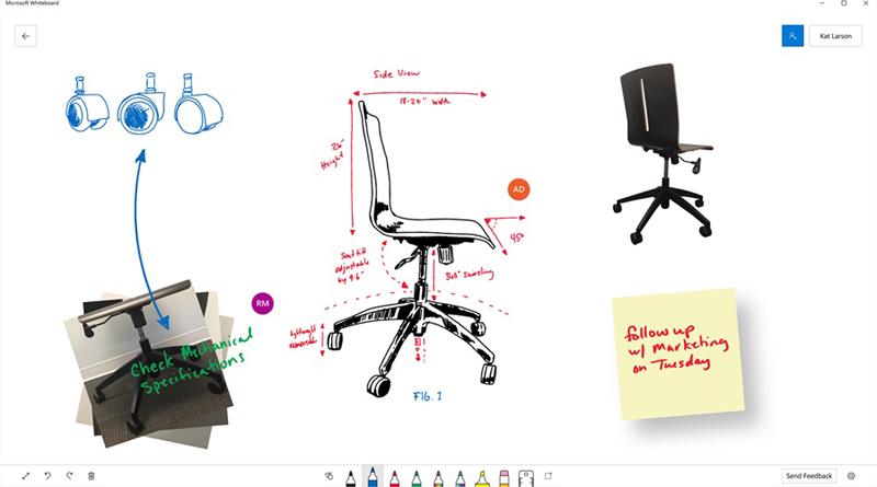 Предполагаемый интерфейс Whiteboard