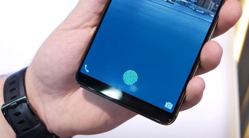 Сканер отпечатков пальцев в дисплее телефона