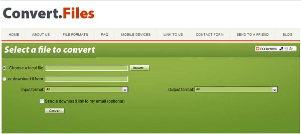 Скриншот к ConvertFiles.com