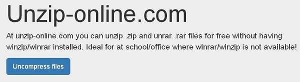 Главная страница Unzip-Online.com