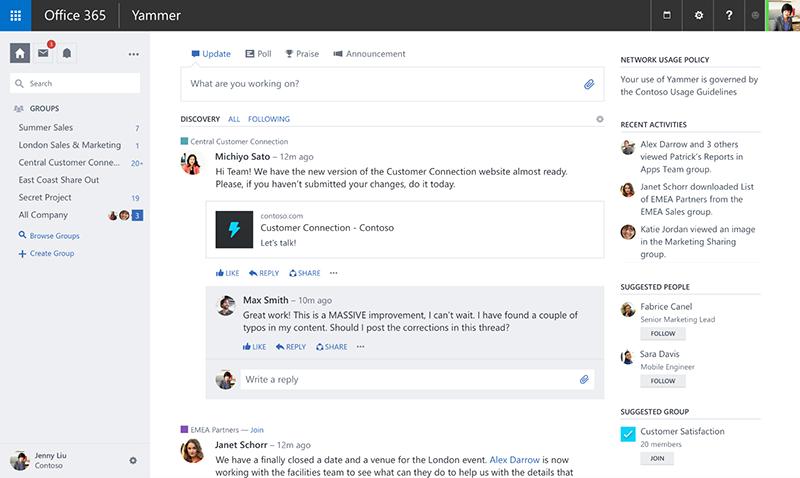 Корпоративная социальная сеть Yammer