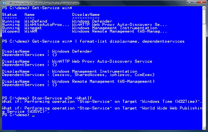 Скриншот к PowerShell