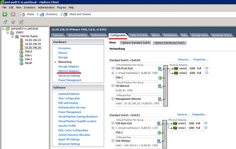 Пункт «Network Adapters» во вкладке «Configuration»