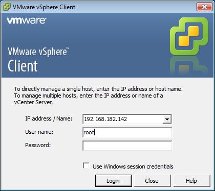 Скриншот к клиенту vSphere