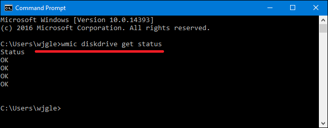 Команда VMIC Diskdrive Get Status