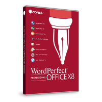 WordPerfect Office X8 Pro Upg Lic Lvl 3 25-99 [LCWPX8PROMLUG3]