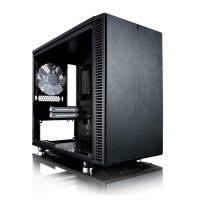 Корпус miniITX FRACTAL DESIGN Define Nano S Window, Mini-Tower, без БП,  черный
