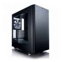 Корпус mATX FRACTAL DESIGN Define Mini C Window, Mini-Tower, без БП,  черный