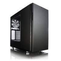 Корпус ATX FRACTAL DESIGN Define S Window, Midi-Tower, без БП,  черный