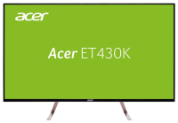 "ACER 43"" ET430Kwmiiqppx IPS LED, 3840x2160, 5ms, 350cd/m2, 1100:1, 2xHDMI(2.0) + DP(1.2) + MiniDP + DP Out + Audio Out, 7Wx2, White (repl. UM.ME0EE.008) [UM.ME0EE.010]"