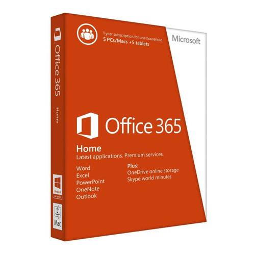 Microsoft Office 365 Home (x32/x64) All Lng на 1 год до 5 ПК (электронная лицензия) [6GQ-00084]
