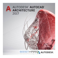 Autodesk AutoCAD Architecture 2017 Commercial New Single-user ELD Quarterly Subscription with Basic Support [185I1-WW2432-T707]