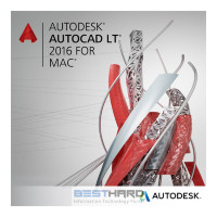 Autodesk AutoCAD for Mac 2016 Commercial New Single-user ELD 2-Year Subscription with Basic Support ACE PROMO [777H1-WW8719-T165]