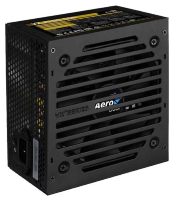 Aerocool 550W Retail VX PLUS 550 ATX v2.3 Haswell, fan 12cm, 500mm cable, power cord, 20+4P, 4+4P, PCIe 6+2P x1, PATA x 3, SATA x3, FDD