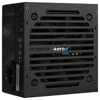 Aerocool 650W Retail VX PLUS 650 ATX v2.3 Haswell, fan 12cm, 500mm cable, power cord, 20+4P, 4+4P, PCIe 6+2P x2, PATA x3, SATA x4, FDD