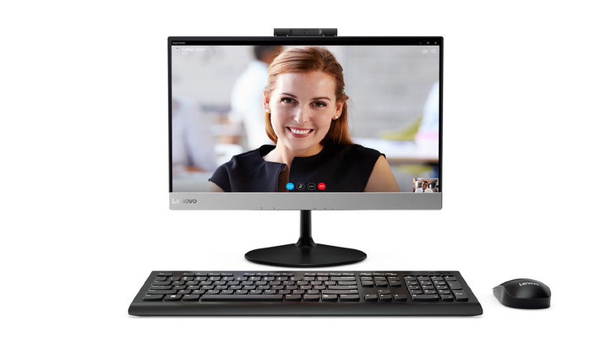 "Lenovo V410z All-In-One 21,5"" i3-7100T 4Gb 128GB_SSD Intel HD DVD±RW AC+BT USB KB&Mouse NO_OS 1Y carry-in"