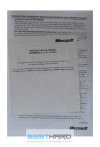 Microsoft Windows Server 2008 Enterprise R2 ROK (x64) 10 CAL 1-8 CPU EN OEM [468749-B23]